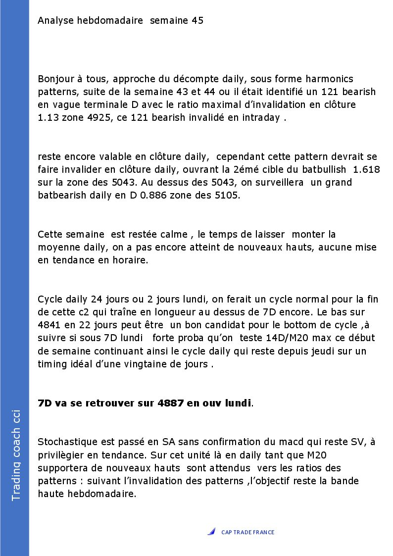 Analyse hebdomadaire semaine 45 page 1